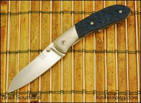 Daws, Titanium Bolster, Blue/Black Textured Scale