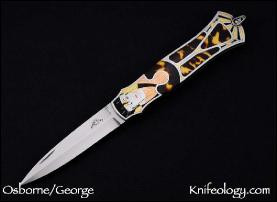 Deco Ladies Dagger, Tim George Engraver, Tortuous Inlays