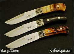 One-of-a-Kind Set, Ray Cover Engraved Cape Buffalo, Stag, Bighorn Sheep