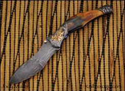 Tiger & Crain, Damascus, Mammoth, Engraved
