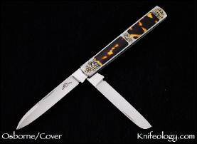 Dr's Knife, Tortoise Inlays, Ray Cover Engraving