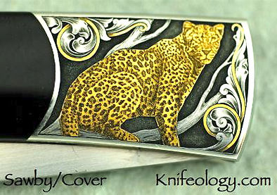 Scott Sawby Leopard Engraved by Jon Roby