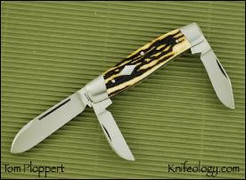 Diamond Edge Pattern Cattleman's Knife