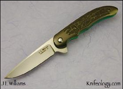 Slim Crux, Zirconium, Spiderweb Carving, Ti Frame Green Ano