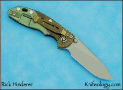 """XM18 3"""", Two Color Anodized, Brown G10"""