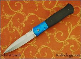 Dagger, Mokuti bolsters, Carbon Fiber scales