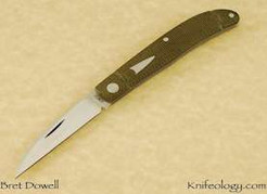 Bret Dowell City Knife_Green Micarta.jpg