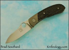 Mini Daws, Distressed Ti Bolster, Carbon Fiber Scale