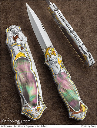 Joe Kious Art Knife Engraved by Jon Robyn