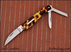 Splitback Wharncliff Whittler, Gold tips, escutcheon & pins