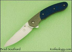 AWT, Hammered Ti and Blue/Black G10
