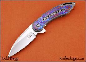 Glimpse, Titanium w/Timascus Inlays & Pocket Clip