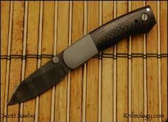 CU, Damascus Blade, Carbon Fiber Scales