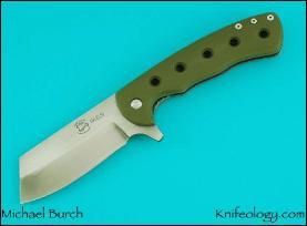 Dao, Green G10 & Black Rayskin Inlays
