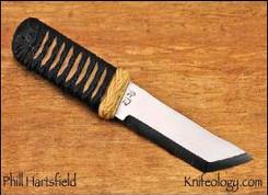 Kwaiken, Tan Cotton Cord Black Leather Overlay
