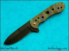 KW13, Gun Kote Blade, heat Treated Titanium Frame