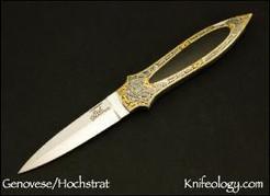 Dagger, Brian Hochstart Engraving, Black Edwards Jade Inlay