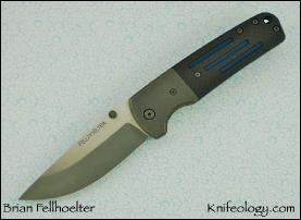 FLG, Carbon Fiber w/Decorative Blue Grooves