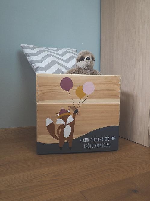 2 tlg. Spielzeugkiste Fuchs Ballon