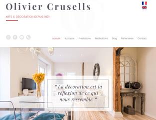 L'artiste et décorateur d'intérieur Olivier Crusells choisit l'agence web Step'com à