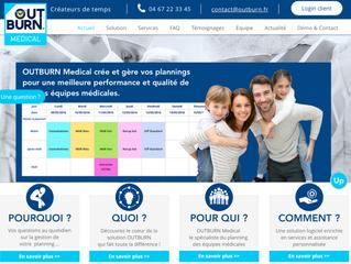 Step'web, agence de communication web à Nîmes, crée le site internet d'Outburn, le spécialis
