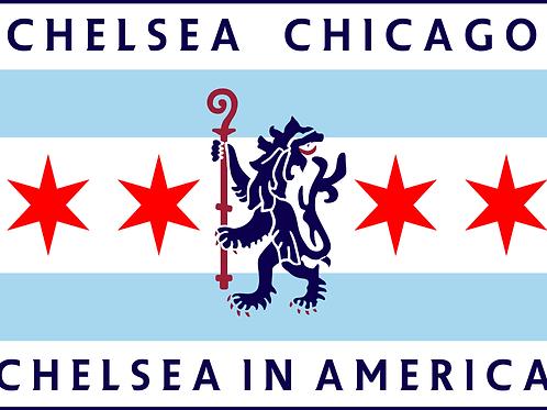 Chicago Blues Flag
