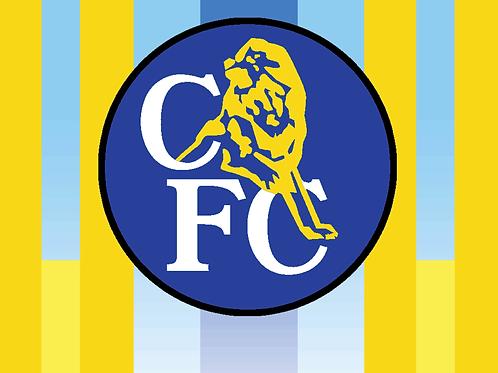 Chelsea Retro Yellow Flag
