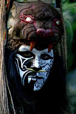 Guerrero maya en el parque Xcaret