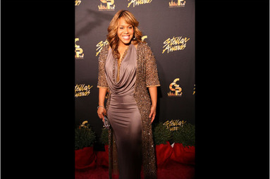 Tina Campbell of Mary Mary on Stellar Carpet