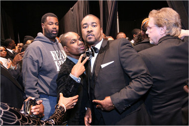 Canton Jones and Kirk Franklin Backstage