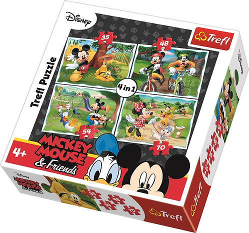 TREFL PUZZLE 4in1 - MICKEY MOUSE