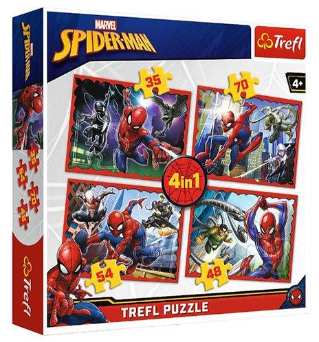 TREFL PUZZLE 4in1 - SPIDERMAN