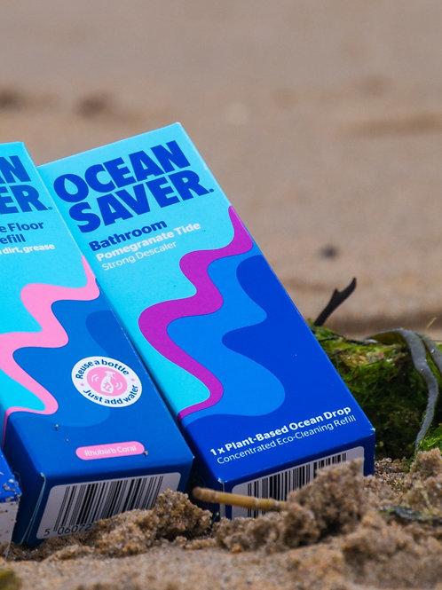 Ocean Saver Bathroom Cleaner & Descaler EcoDrop Refill- Pomegranite Tide
