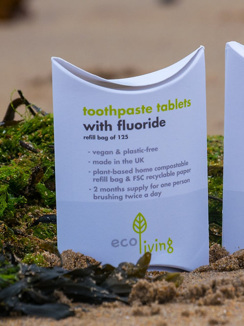 Eco Living Living Fluoride Toothpaste Tablets Refill