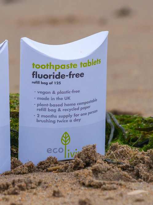 Eco Living Fluoride Free Toothpaste Tablets Refill