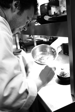 Owner and chef of Buono Italian, Claudio Barchieri cooking.