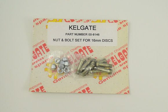 Nut & Bolt Set - 16mm Disc