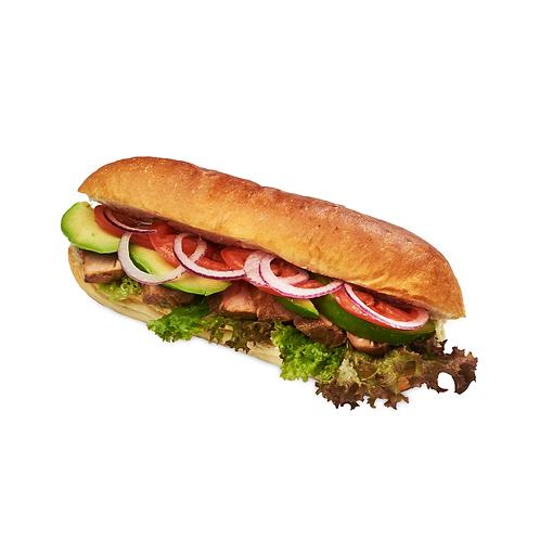 Каліфорнійський сендвіч з лососем гарячого копчення