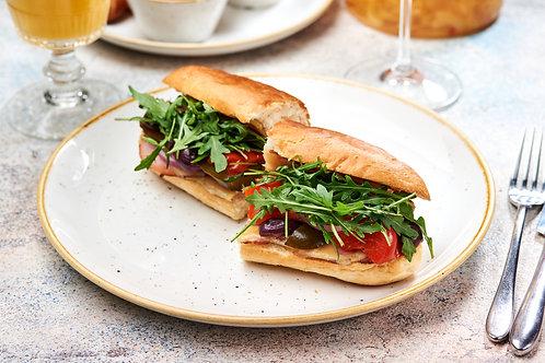 Сендвіч з копченею полядвицею