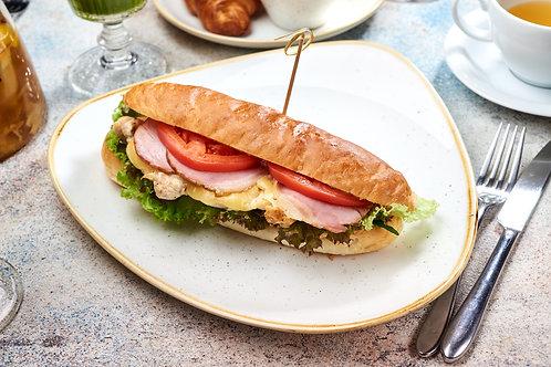Сендвіч класичний міні-клаб зі свиною вирізкою