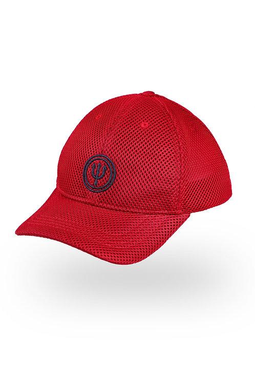 Cap trident logo red