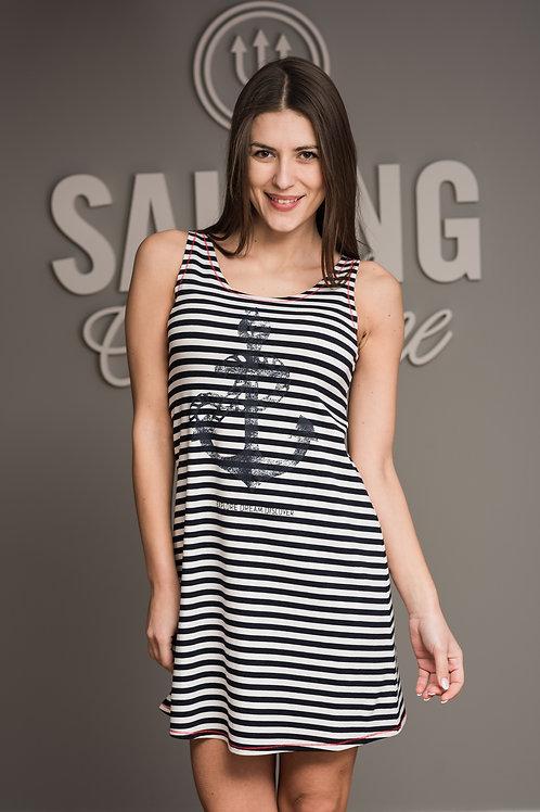Dress Anchor Stripes Sleeveless