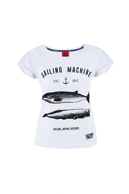 T-shirt Whales White
