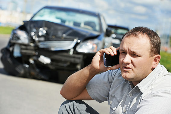 Effects Of Hot Weather On Your Car Man Calling After Accident