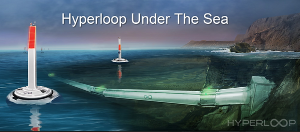 Hyperlop Under The Sea, hyperloop future travel