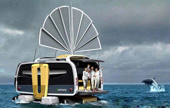 harmony amphibious rv, motorhomes of the future