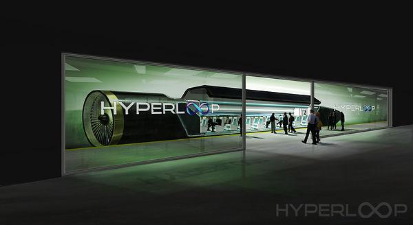 Hyperloop Passengers Boarding, hyperloop future travel