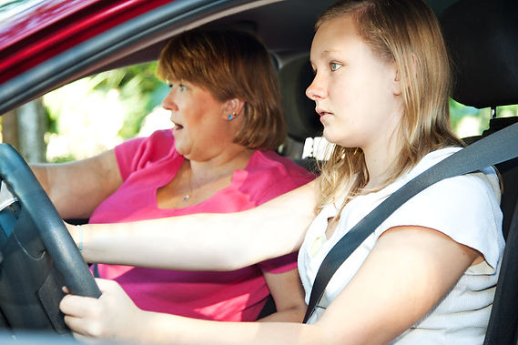 teaching your teen to drive mom and daughte