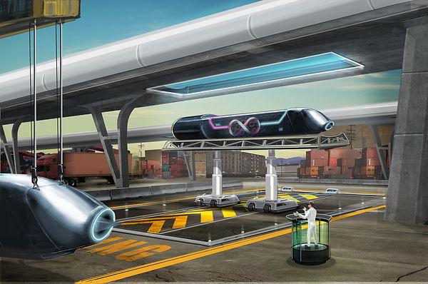 hyperloop pod in the dock