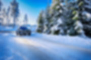 Right Motor Oil Car Driving On Snow